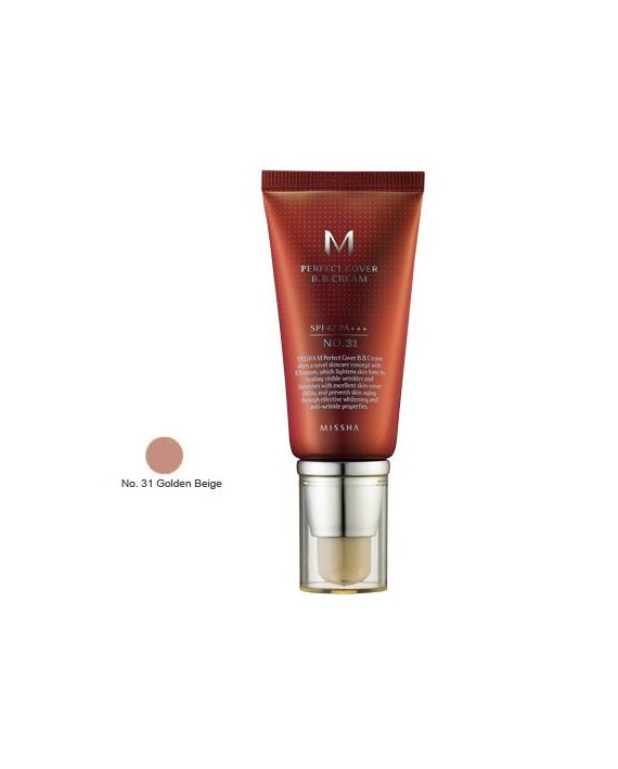 MISSHA M PERFECT COVER BB CREAM SPF42+/PA+++ Nº 31 (GOLDEN BEIGE ) 20ML