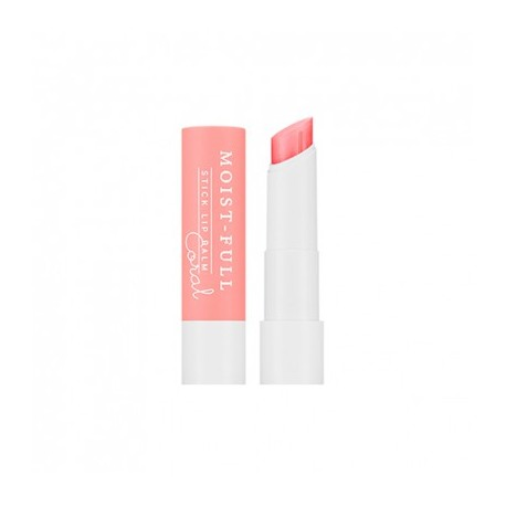 MISSHA MOIST-FULL STICK LIP BALM (CORAL)