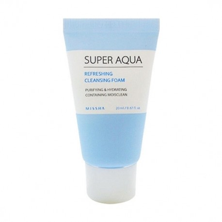 MISSHA SUPER AQUA REFRESHING CLEANSING FOAM 20 ML