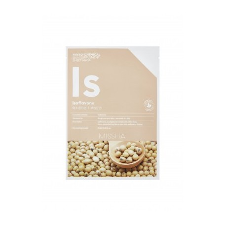 MISSHA PHYTOCHEMICAL SKIN SUPPLEMENT SHEET MASK (ISOFLAVONE/ DEEP MOISTURE)