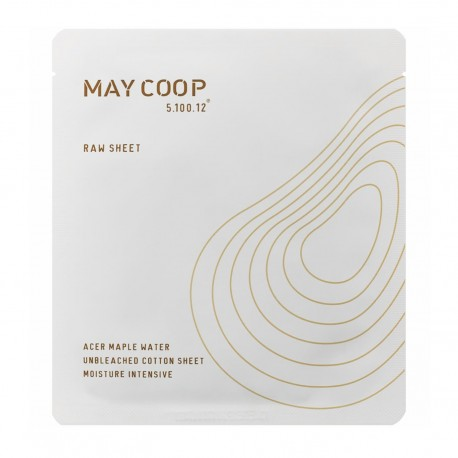 MAY COOP RAW SHEET MASK ACER MAPLE WATER MOISTURE INTENSIVE 25G