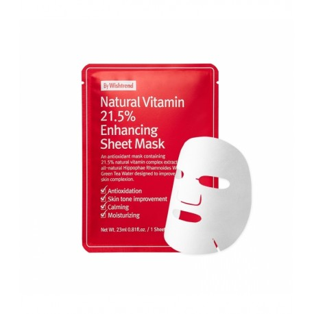 BY WISHTREND NATURAL VITAMIN 21.5% ENHANCING SHEET MASK