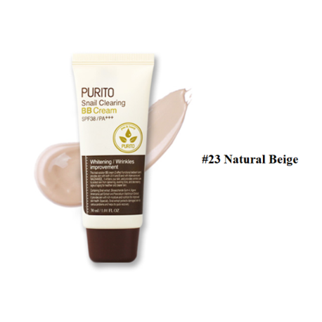PURITO SNAIL CLEARING BB CREAM TONO 23 NATURAL BEIGE SPF38/PA+++ 30ML