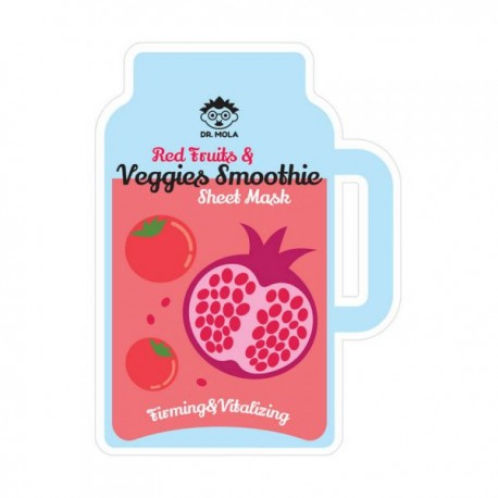 DR. MOLA, RED FRUITS & VEGGIES SMOOTHIE SHEET MASK