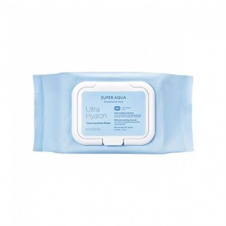 MISSHA SUPER AQUA ULTRA HYALURON CLEANSING OIL WIPES