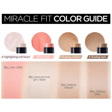 SECRET KEY MIRACLE FIT CONTOUR STICK BLUSHER PINK CORAL