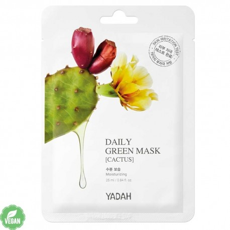 YADAH DAILY GREEN CACTUS MASK
