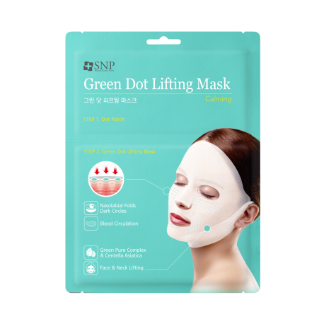 SNP GREEN DOT CALMING LIFTING MASK