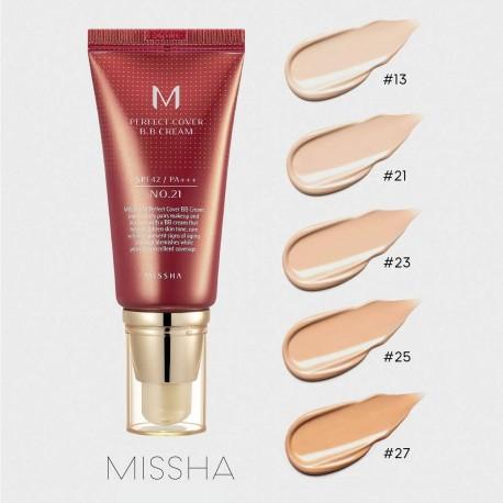 MISSHA M PERFECT COVER BB CREAM SPF42/PA+++ Nº25/WARM BEIGE 20ML