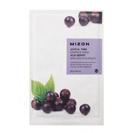 MIZON JOYFUL TIME ESSENCE MASK ACAI BERRY SKIN HEALTH & VITALITY 23g