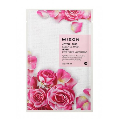 MIZON JOYFUL TIME ESSENCE MASK ROSE PORE CARE & MOISTURIZING 23g