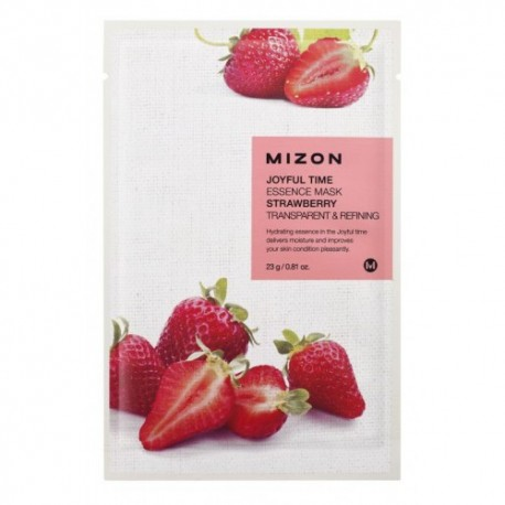 MIZON JOYFUL TIME ESSENCE MASK STRAWBERRY TRANSPARENT & REFINING 23g