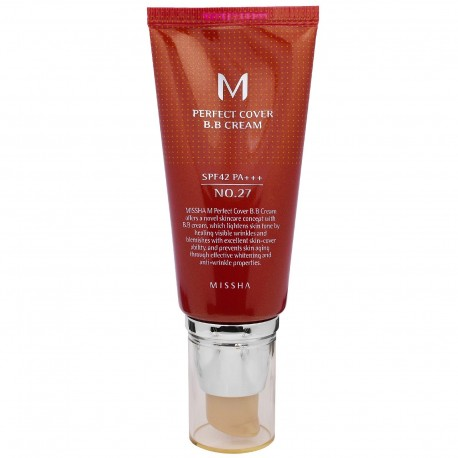 MISSHA M PERFECT COVER BB CREAM SPF42+/PA+++ Nº 27 ( HONEY BEIGE ) 50ML