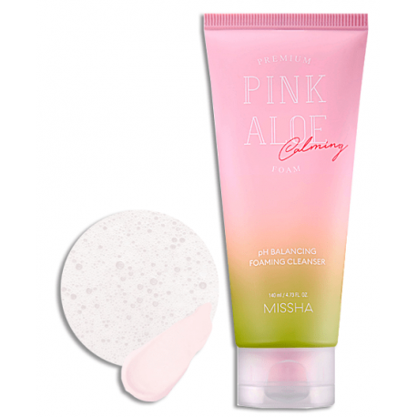 MISSHA PREMIUM PINK ALOE CLEANSING FOAM 140ML