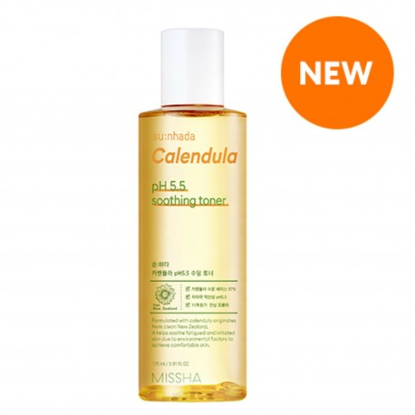 MISSHA SUN HADA CALENDULA pH5.5 SOOTHING TONER 175ML