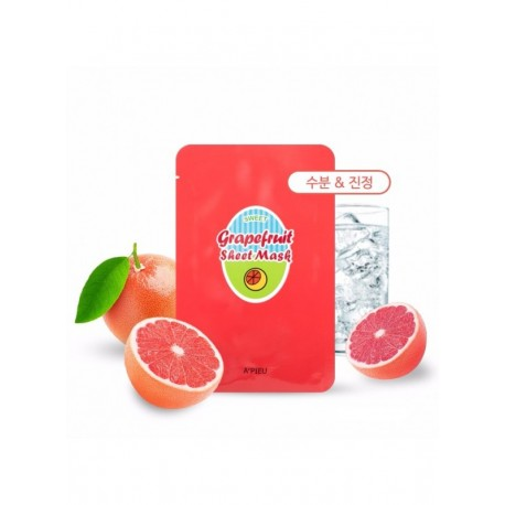 APIEU GRAPE FRUIT & SPARKLING SHEET MASK