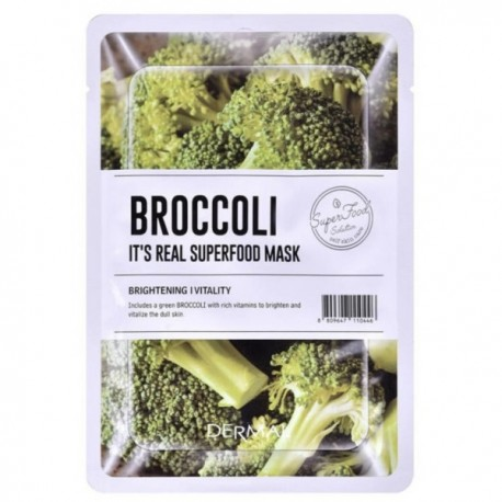 DERMAL IT´S REAL SUPERFOOD MASK BROCCOLI