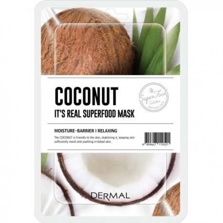DERMAL IT´S REAL SUPERFOOD MASK COCO
