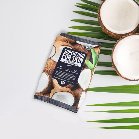 FARM SKIN SUPERFOOD FOR SKIN CLEANSING WIPES COCONUT
