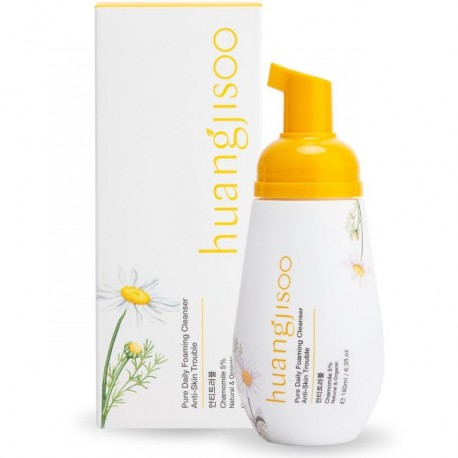 HUANGJISOO PURE DAILY FOAMING CLEANSER ANTI-SKIN TROUBLE CAMOMILE 180 ML