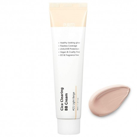 PURITO CICA CLEARING BB CREAM TONO 21 LIGHT BEIGE SPF 38/PA +++
