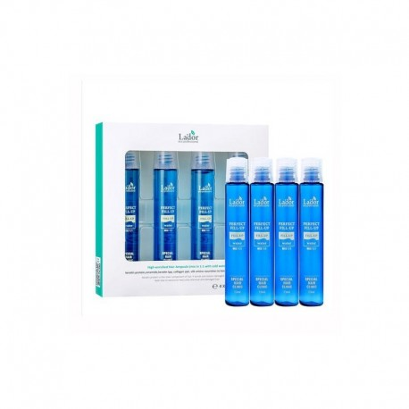 LADOR PERFECT HAIR FILL UP ( RINSE-OFF HAIR AMPOULE ) 13 ML X 4EA