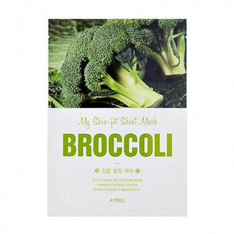 A´PIEU MY SKIN FIT SHEET MASK BROCCOLI