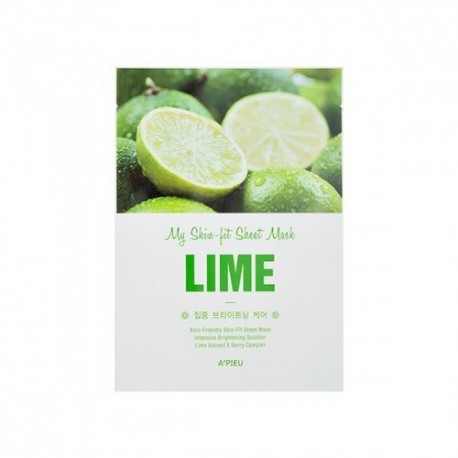 A´PIEU MY SKIN FIT SHEET MASK LIME