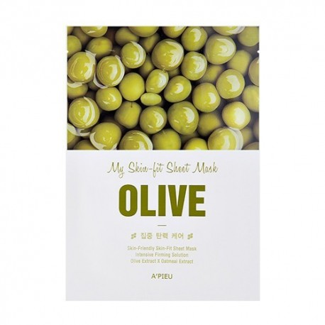 A´PIEU MY SKIN FIT SHEET MASK OLIVE