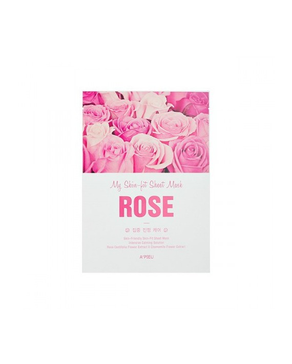 A´PIEU MY SKIN FIT SHEET MASK ROSE