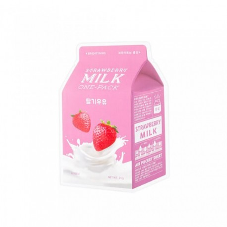 A´PIEU STRAWBERRY MILK ONE PACK BRIGHTENING MASK